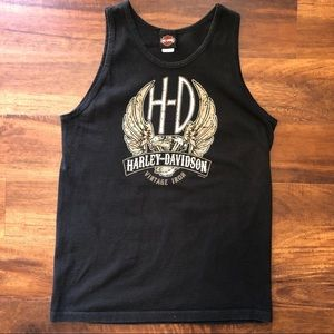 Harley-Davidson black men's tank size large